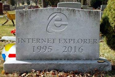 Internet Explorer Has Finished Exploring